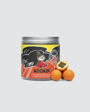 Moomin Little My - Liquorice with white chocolate, sea buckthorn and Piment d'Espelette