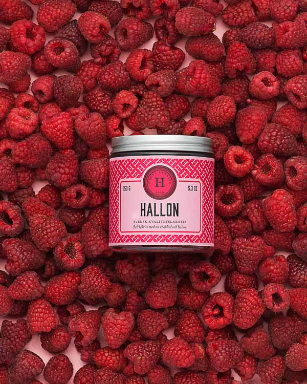 Hallon (Raspberry) - Raspberries and liquorice